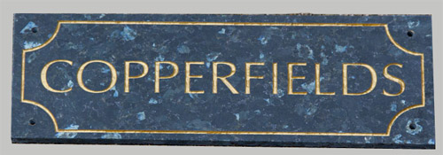 46b5bc48f884 Granite House Name Plates - Beautiful signs for your home